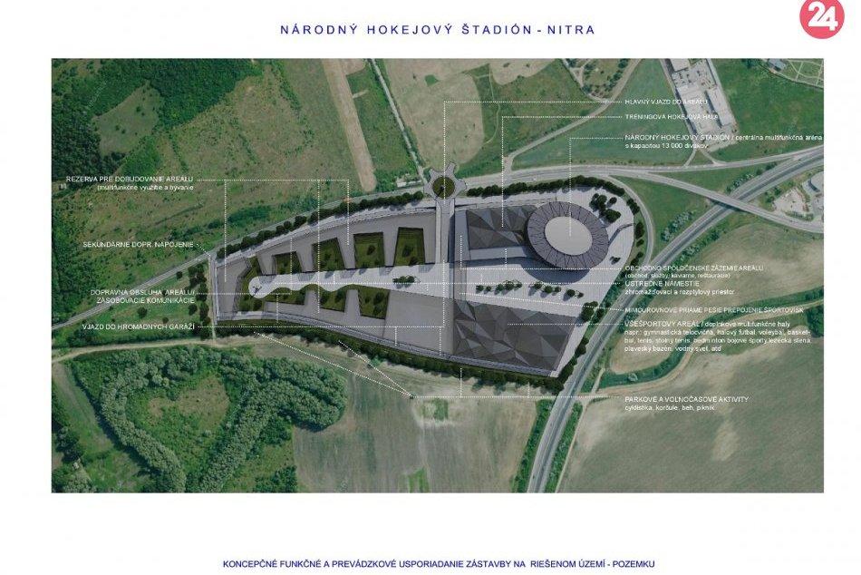 Nitra v hre o Národný hokejový štadión